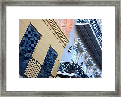 Gold And Gray In New Orleans Framed Print by Carol Groenen