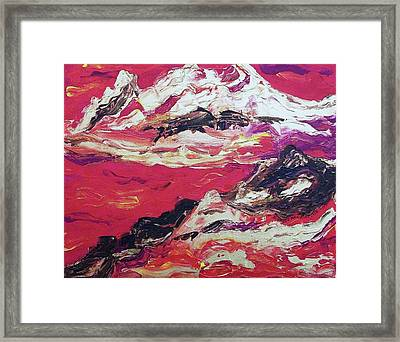 Gold And Red  Framed Print by Suzanne  Marie Leclair