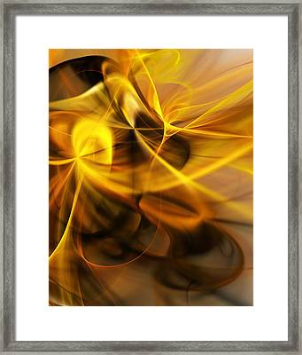Gold And Shadows Framed Print