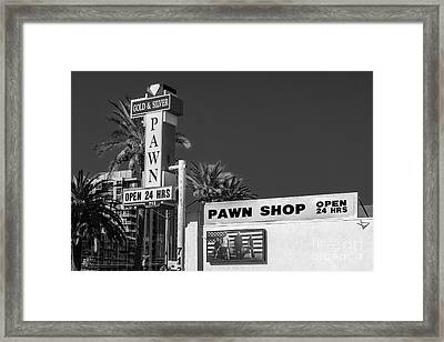 Gold And Silver Pawn Shop Framed Print