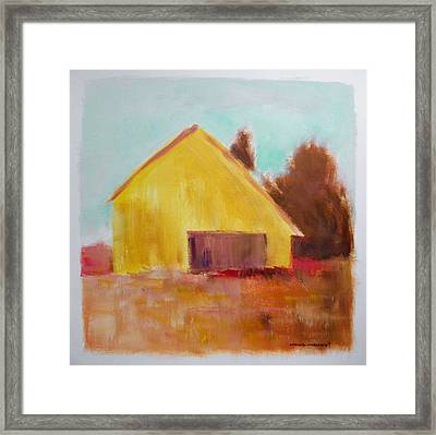 Framed Print featuring the painting Gold And Warm by John Williams