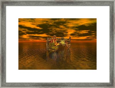Gold Angel Framed Print