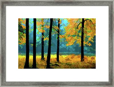 Framed Print featuring the photograph Gold Anl Blue Autumn Day by Vladimir Kholostykh