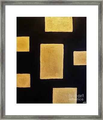 Gold Bars Framed Print by Marsha Heiken