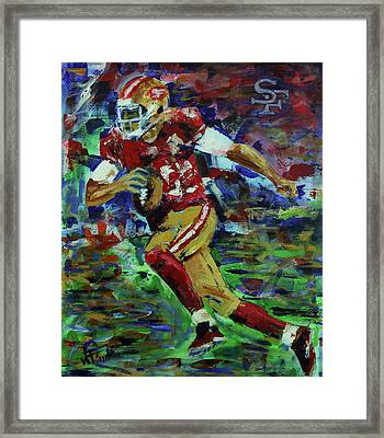 Gold Blooded 49ers Framed Print by Walter Fahmy