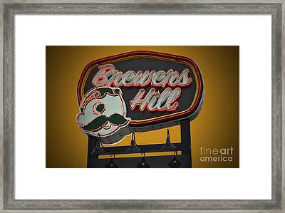 Gold Brewers Hill Framed Print
