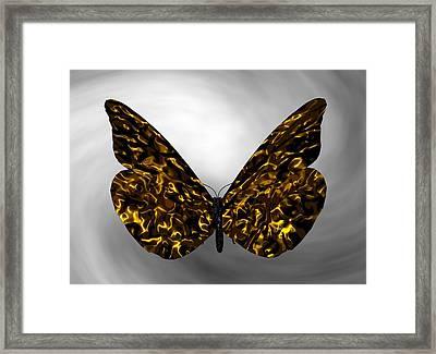 Gold Butterfly Framed Print