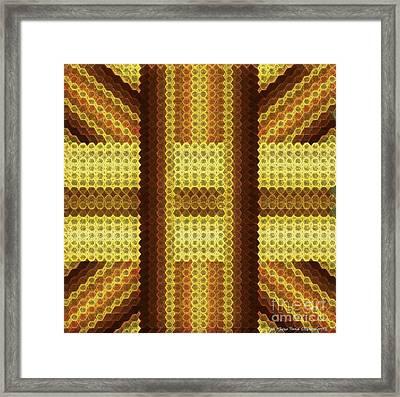 Gold C Framed Print