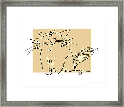 Gold Cat Framed Print