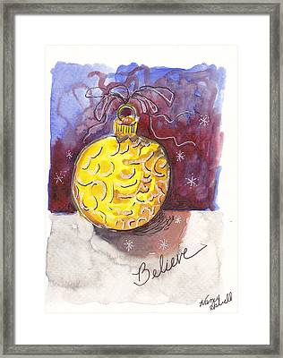 Gold Christmas Ornament Framed Print by Michele Hollister - for Nancy Asbell