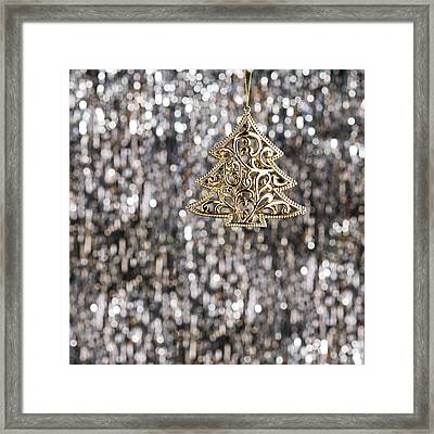 Framed Print featuring the photograph Gold Christmas Tree by Ulrich Schade