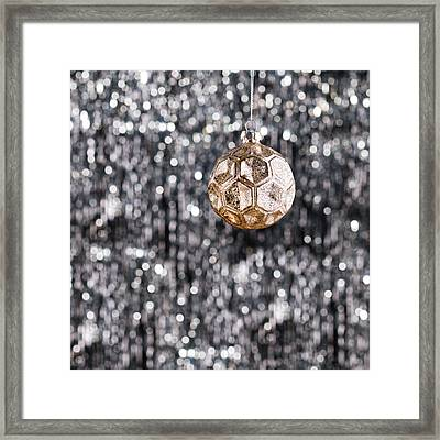 Framed Print featuring the photograph Gold Christmas by Ulrich Schade