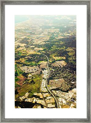 Gold Coast Aerial Photograph Framed Print by Jorgo Photography - Wall Art Gallery