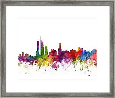 Gold Coast Australia Cityscape 06 Framed Print
