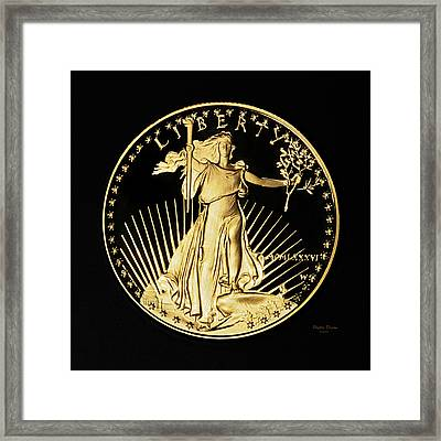 Gold Coin Front Framed Print