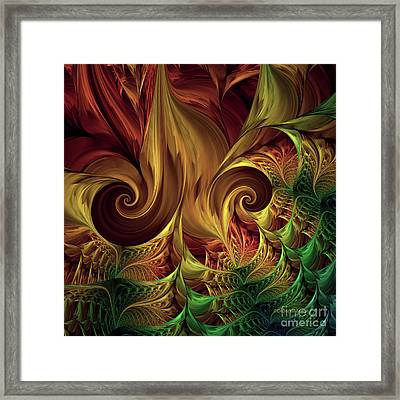 Gold Curl Framed Print