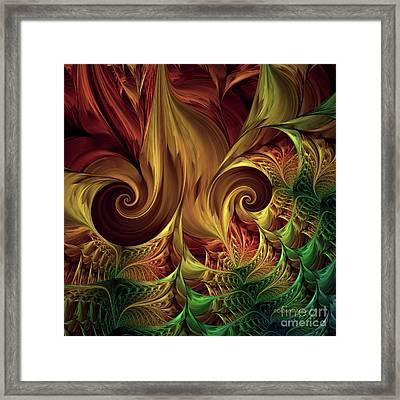 Gold Curl Framed Print
