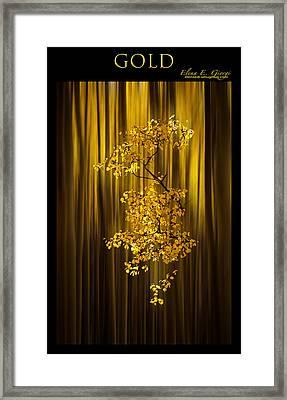 Gold Framed Print by Elena E Giorgi