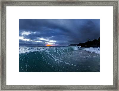 Gold Ember Framed Print by Sean Davey