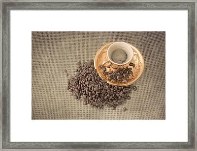 Gold Expresso Framed Print by Pamela Williams
