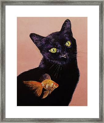 Gold Fish Framed Print by Michael Creese