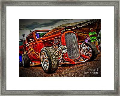 Gold Flames Framed Print by Perry Webster
