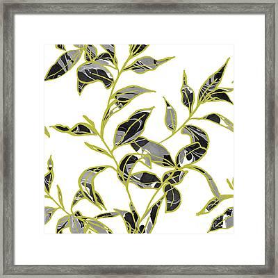Gold Foliage Framed Print by Varpu Kronholm
