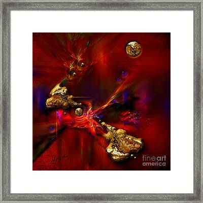 Gold Foundry Framed Print