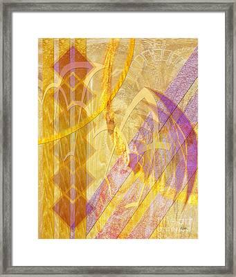 Gold Fusion Framed Print by John Beck