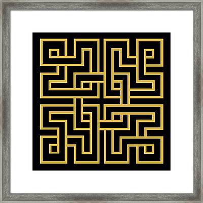Gold Geo 6 - Chuck Staley Framed Print by Chuck Staley