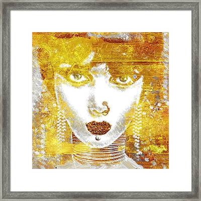 Gold Girl Framed Print by Mindy Sommers