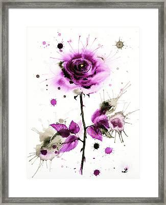 Gold Heart Of The Rose Framed Print