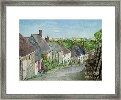 Gold Hill  Shaftesbury Framed Print by Yvonne Johnstone