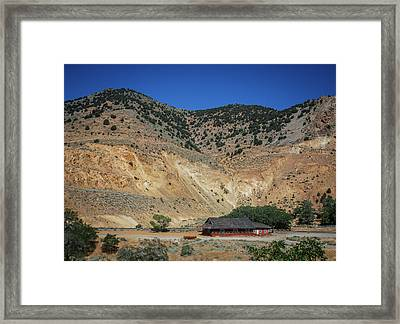 Gold Hill Station Framed Print by Rick Mosher