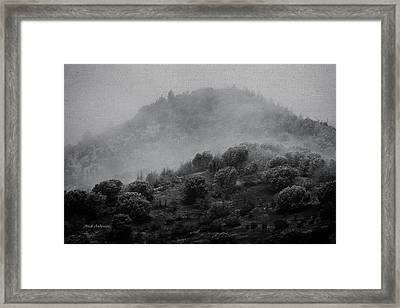 Gold Hill Winter Scene Framed Print