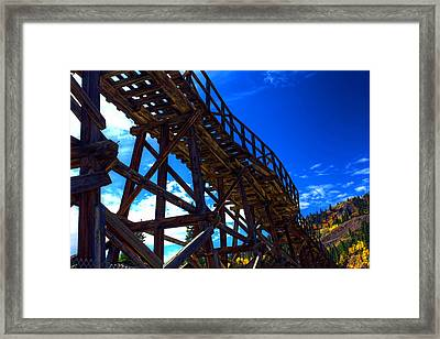 Gold In Them That Hills Framed Print by Mike Flynn