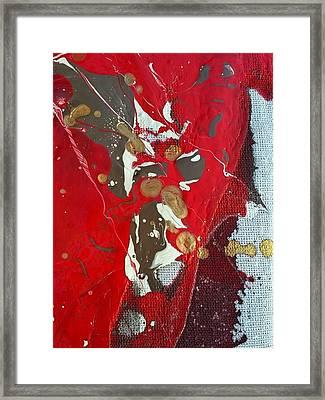 gold inhaling Jaffar Framed Print by Gyula Julian Lovas