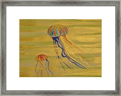 Gold Jellies Framed Print by Erika Swartzkopf