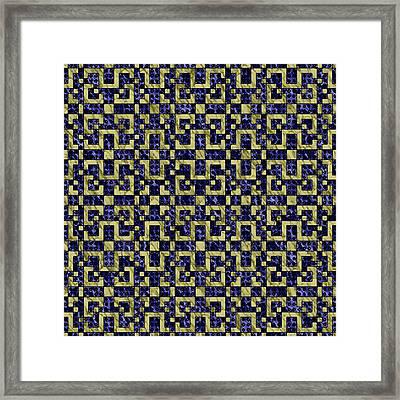 Maze Of Luxury Framed Print