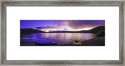 Framed Print featuring the photograph Gold Lake Pano by Sherri Meyer