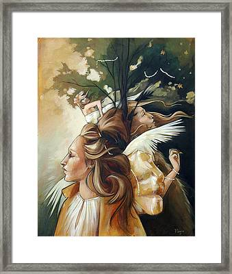 Gold Leaf Mysticism Framed Print