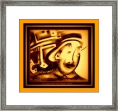 Gold Man Framed Print by J Kamaru
