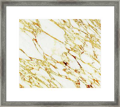 Gold Marble Framed Print