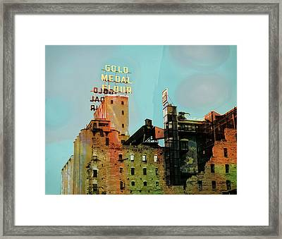 Framed Print featuring the photograph Gold Medal Flour Pop Art by Susan Stone