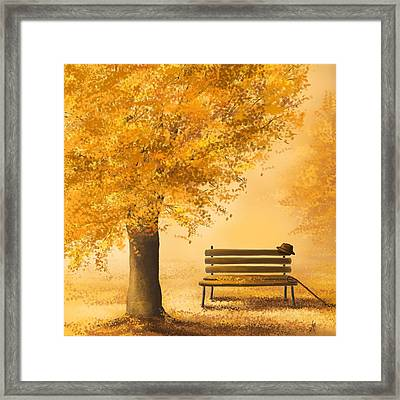 Gold Memories Framed Print