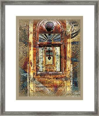 Gold Mine Gas Pump Framed Print by Chuck Brittenham
