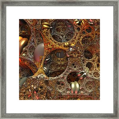 Framed Print featuring the digital art Gold Mine by Lyle Hatch