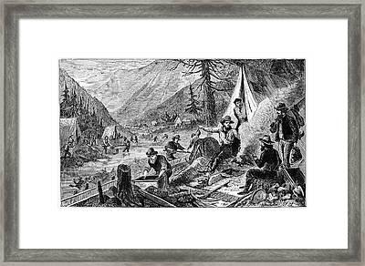 Gold Mining, 1853 Framed Print by Granger