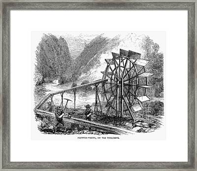 Gold Mining, 1860 Framed Print by Granger