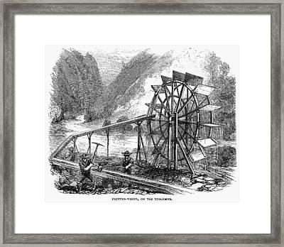 Gold Mining, 1860 Framed Print by Granger